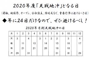 2020年の天戦地冲日